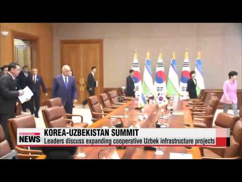 Leaders of Korea, Uzbekistan discuss cooperation in infrastructure, trade, healt