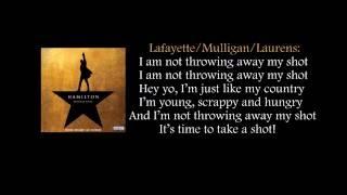 Hamilton - My Shot lyrics