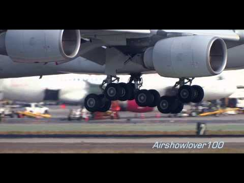 Singapore Airlines Airbus A340-500 Landing LAX