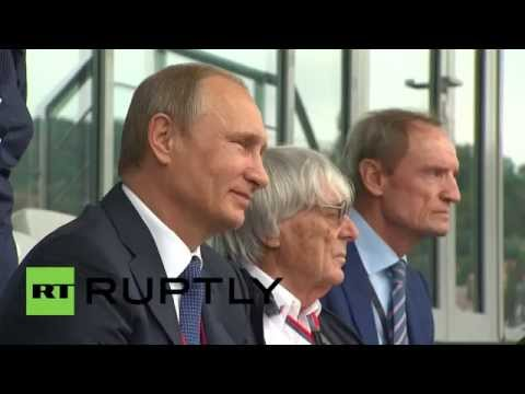 Russia: Putin enjoys Russian Grand Prix with Formula 1 boss Bernie Ecclestone