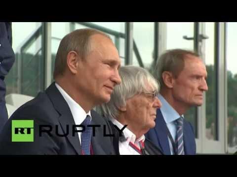 Russia: Putin enjoys Russian Grand Prix with Formula 1 boss Bernie Ecclestone