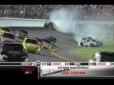 Kyle Busch Crash Daytona Coke Zero 400 BEST QUALITY ON YOUTUBE!!! Video