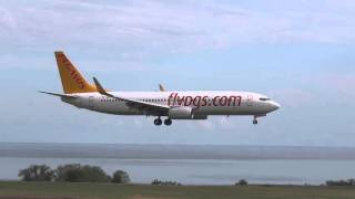 Trabzon Airport (TZX-LTCG) - Landing and Takeoff Compilation..