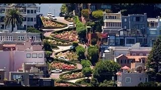 The Most Curved Road In The World / Lombard Street / San Francisco