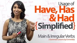 Using Have, Has & Had simplified ? Basic English Grammar Lessons to learn Verbs & Tenses.