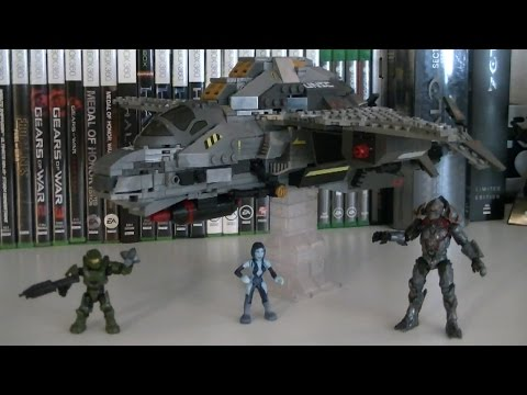 Halo Mega Bloks 97380 UNSC Broadsword Midnight Strike Review