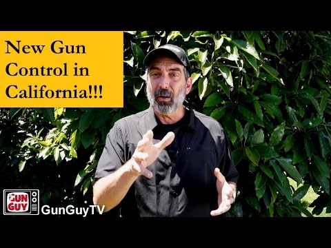 New gun control laws in California!!!  What's happening?