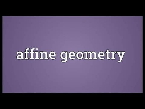 Header of affine geometry