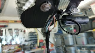 Remove rear view mirror / install Thinkware F50 Jeep Grand Cherokee
