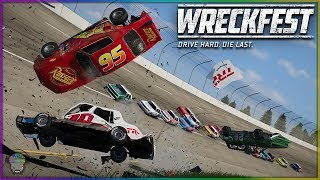Lightning McQueen at Talladega! | Wreckfest | NASCAR Legends Mod