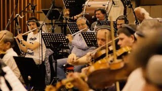 """The Last Flight,""orchestral session at the Czech National Orchestra Studio, Prague"
