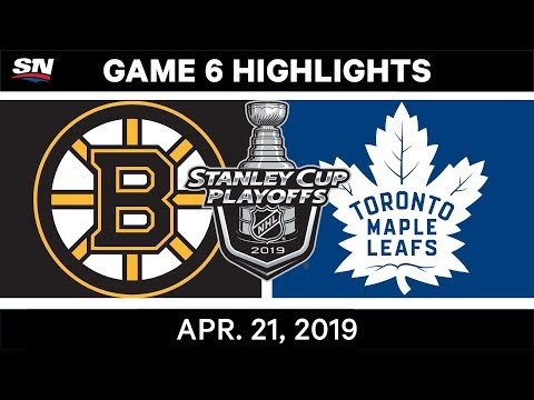 NHL Highlights | Bruins Vs. Maple Leafs, Game 6 – April 21, 2019
