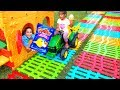 Esma and Asya Pretend play with market shopping for kids video mp3 indir