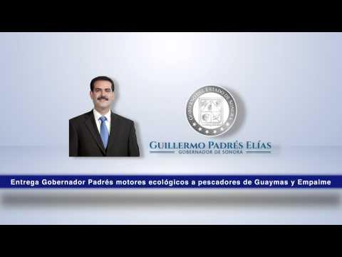 Entrega Gobernador Padrés motores ecológicos a pescadores de Guaymas y Empalme. 17-12-2014