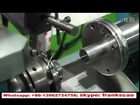 full automatic hot air coil winding machine - self-supporting bobbinless coil winder
