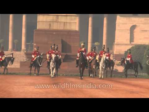 Spectacular ceremonial change of guards at Rashtrapati Bhavan