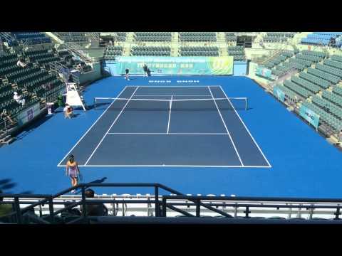 Vera Zvonareva vs Tian Ran in Hong Kong 10k 29-12-2014 Part 1