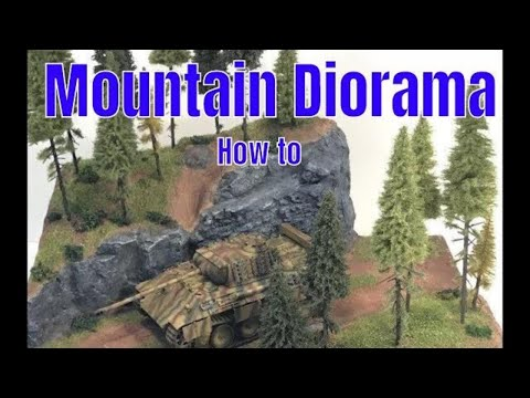 Building a mountain road diorama step by step scenery how to