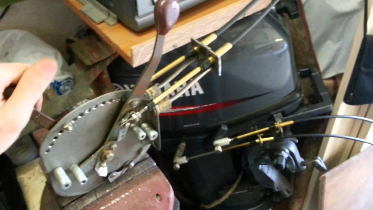 Дистанционное управление лодочным мотором своими руками 190
