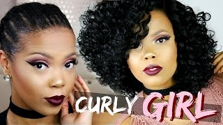 YASS! SEXY CURLY HAIR IN 10 MINUTES | SENSATIONNEL EMPRESS 4X4 SWISS LACE WIG - PORSHA | TASTEPINK