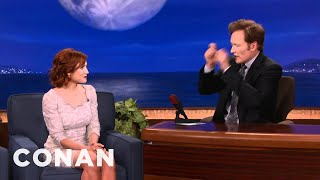 Brittany Snow Got Busted While Speeding To Adele - CONAN on TBS