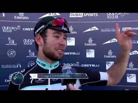 Highlights: Mark Cavendish wins Dubai Tour opener