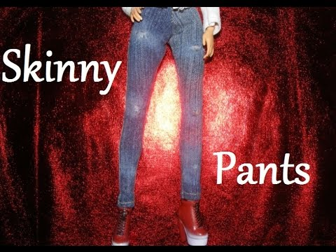 How to make doll clothes - Skinny Pants
