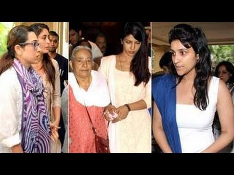Kareena Kapoor, Deepika, Vidya Balan @ Priyanka Chopra's father's prayer MEET