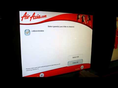 Cheap Flights Air Asia Airport Check in.MOV