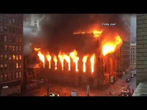 New York church fire