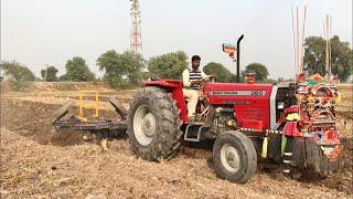Massey Ferguson 385 | Ploughing with 18 Disc Harrow | Amazing Performance Millat Tractors
