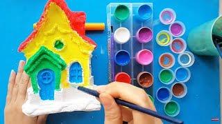 Đồ Chơi Bé Tô Tượng Ngôi Nhà Có Nhiều Cửa Sổ - Coloring Statue House for Kids