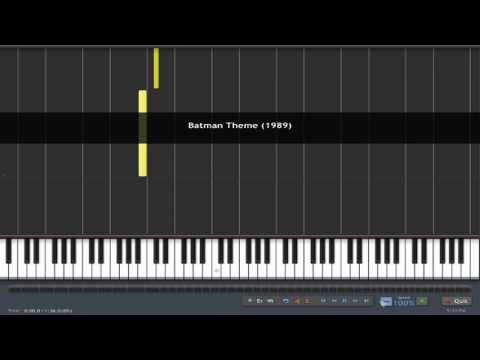 (How To Play) Batman Theme (1989) Piano Tutorial  - Synthesia