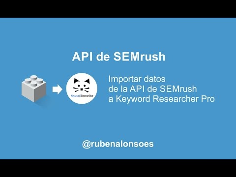 Importar datos de la API de SEMrush a Keyword Researcher Pro