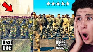 GTA 5 VS VIDA REAL!! #4 GRAND THEFT AUTO V EN LA VIDA REAL - GTA V