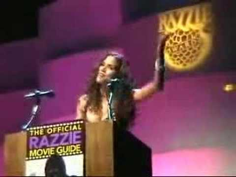 Halle Berry accepts Razzie Award for Worst Actress !