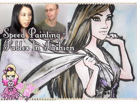 Fables In Fashion Watercolour Speed Painting
