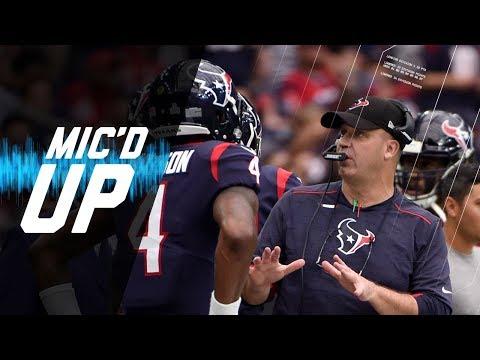 Bill O'Brien Mic'd Up Coaching Deshaun Watson vs. Browns | NFL Films | Sound FX