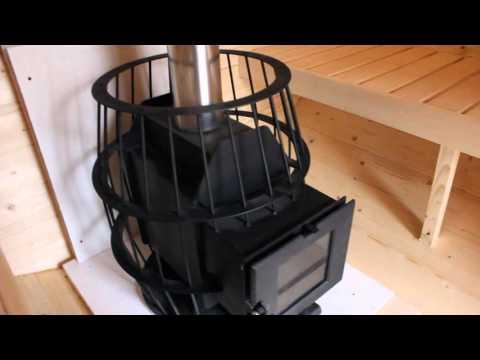 Печь для бани из бочки своими руками видео