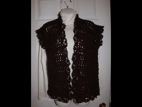 Crochet Chaleco o Cardigan