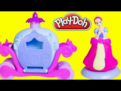 Play Doh Cinderella Magical Carriage Disney Princess Cinderella Play Dough Clay Hasbro Toy Review