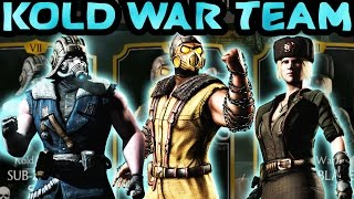 Mortal Kombat X Mobile. KOLD WAR TEAM. How strong is it? Maxed Out Gameplay!