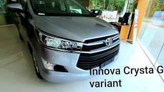 Toyota Innova Crysta G variant 2019