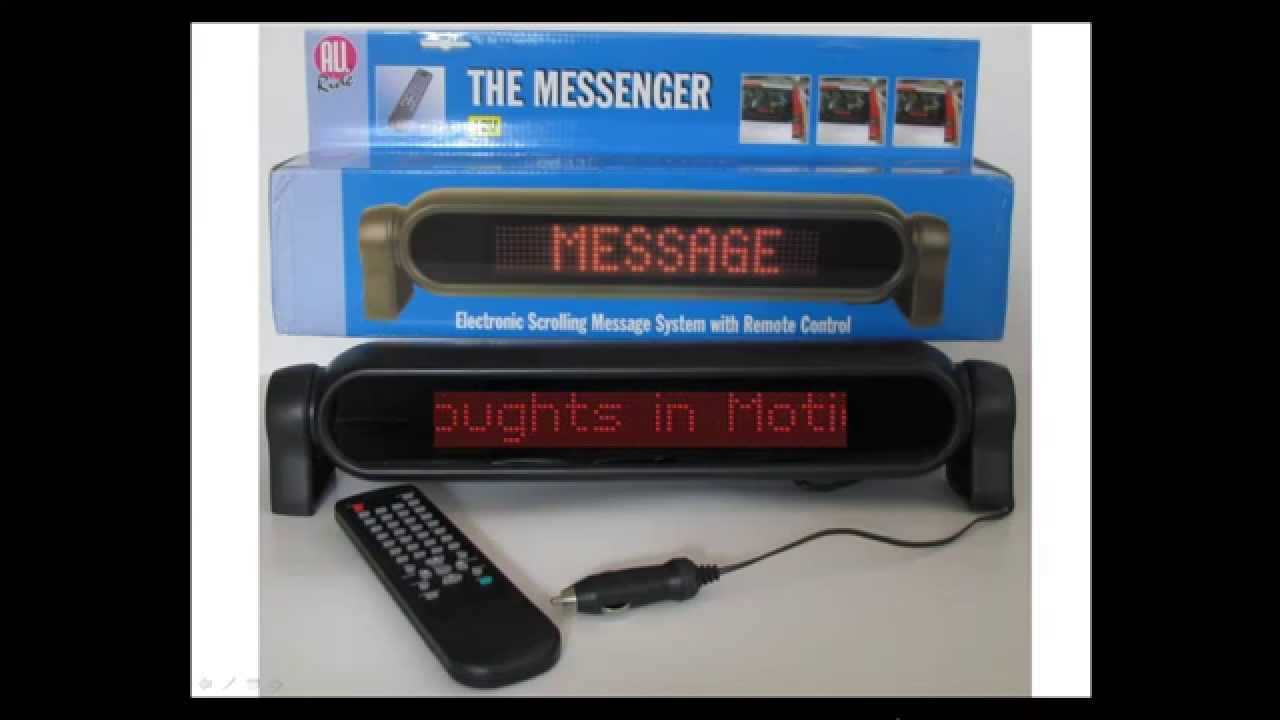 Led Scrolling Message Display Sign For Suv S Trucks Cars