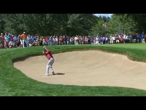 Bubba Watson's skillful bunker shot sets up birdie at BMW