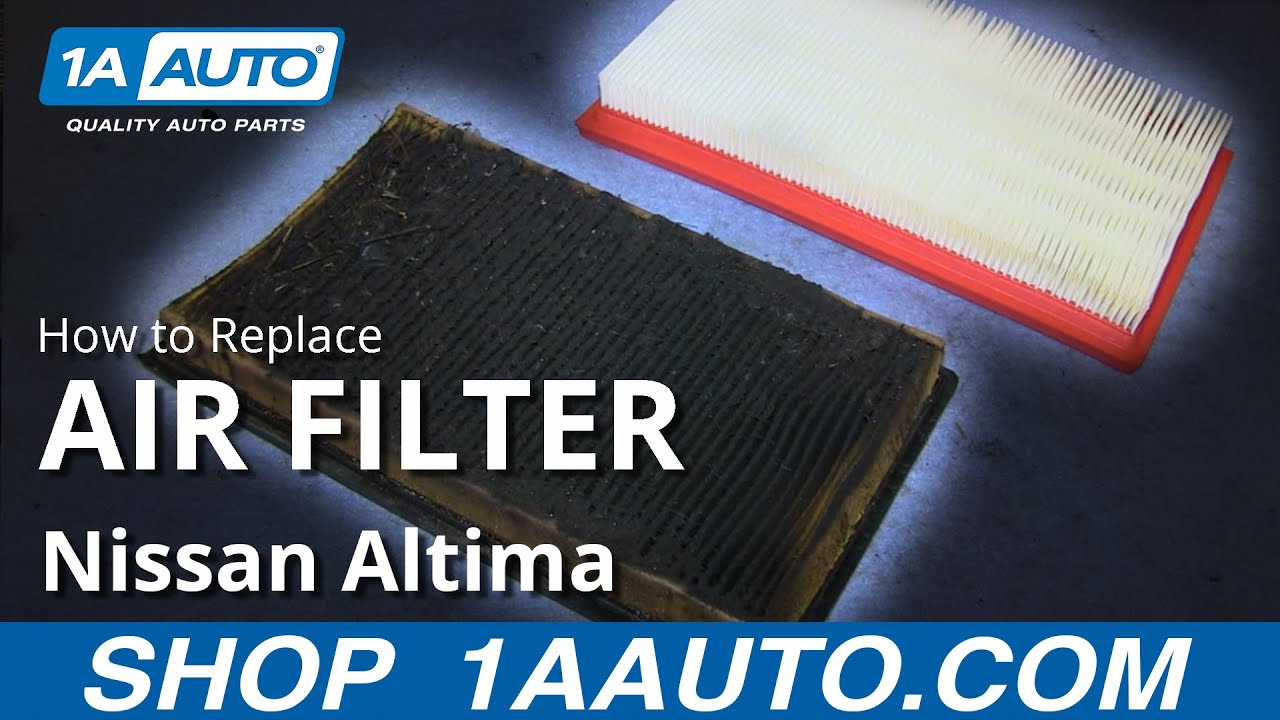 How To Install Replace Check Engine Air Filter 2002-06 Nissan Altima