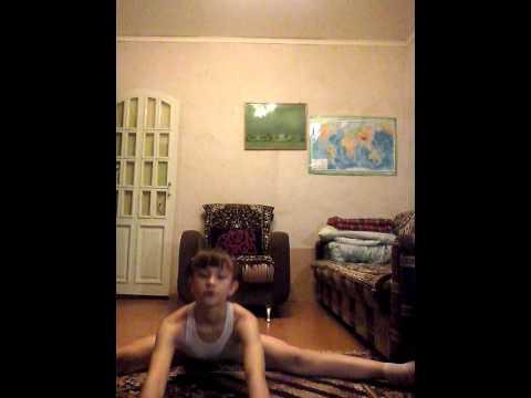 1 видеоурок о том, как сесть на продольный шпагат.
