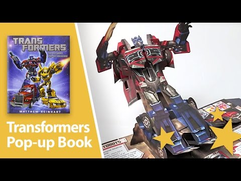 (HD) Impressive Transformers Pop up book by Matthew Reinhart