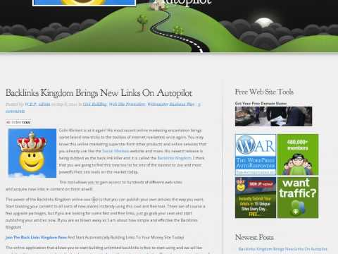 0 Backlinks Kingdom Lets You Automate Your Article Marketing Campaign