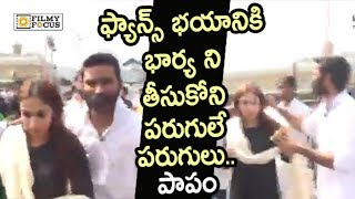 Dhanush Mind Blowing Craze at Tirumala || Dhanush Mobbed by Fans